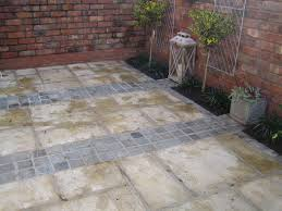 this concrete paving is a good copy of natural stone paving inset