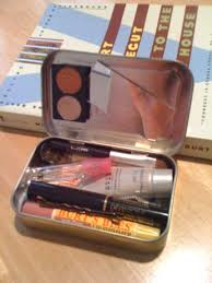 diy makeup kit out of an altoid tin for my walking pharmacy bag