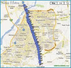 map of karachi karachi metro map http travelsfinders karachi metro map