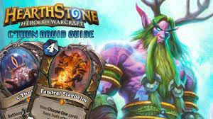 Decks Hearthstone July 2017 by Hearthstone Standard Cthun Druid Deck Strategy Guide Stack Up Org