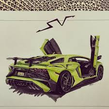 car lamborghini drawing aventador sv arshi draw to drive