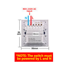 touch l on off plug in control sonoff t1 1 3 gang wifi rf 86 smart wall touch light switch