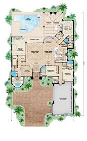 Color Floor Plan Island House Plans Contemporary Island Architecture Stock