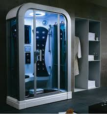this futuristic steam shower can make any bathroom seem like a