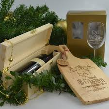Wine And Cheese Gifts Corporate Personalised Engraved Christmas Hamper Cheese Paddle