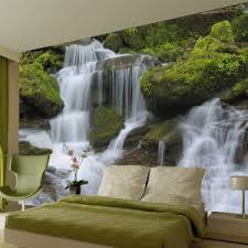 waterfall wall mural home office wall murals