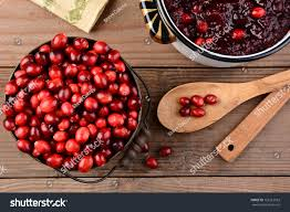 cranberry side dish thanksgiving overhead bucket cranberries pot full whole stock photo 163212563