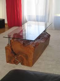 Wohnzimmertisch Transparent Wohnzimmertisch Einmalige Holzskulpturen