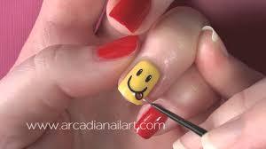smiley face nail art arcadianailart youtube