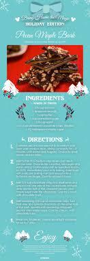 recipe pecan maple bark from holidays around the world at
