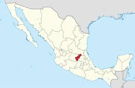 Mexico Maps by File Queretaro In Mexico Location Map Scheme Svg Wikimedia Commons