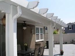 orange county solid patio cover wood vs aluminum patio covers
