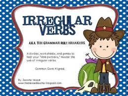 using irregular singular verb as third person youtube