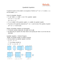 cbse class 10 maths quadratic equations notes class 10 maths