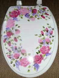 Cushioned Toilet Seats My Toilet Seat Of Roses That I Have Made With Decoupage Technique
