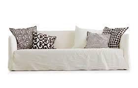 canap tissu blanc 10surdix canapé convertible benny 203 cm tissu blanc cassé