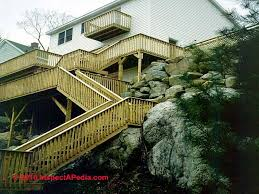 Landing Handrail Height Exterior Stairways Guide To Outdoor Stair Railing Landing