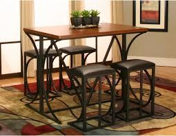 Oak Bar Table Cramco Conner 5 Piece Rectangular Pub Table Set Medium Oak