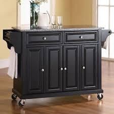 kitchen cart island darby home co pottstown kitchen cart island with granite top ebay