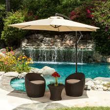 coolaroo 10 ft offset patio umbrella mocha hayneedle