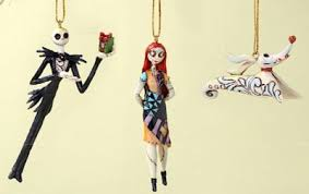 nightmare before ornament set with sally zero