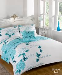 Duvet Covers Teal Blue Duvet Cover With Pillow Case Quilt Bedding Set Bed In A Bag Double