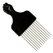 afro comb ssk mini fan afro with black metal