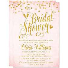 Make Your Own Bridal Shower Invitations Pink And Gold Bridal Shower Invitations Marialonghi Com