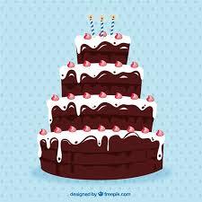 big chocolate birthday cake vector free download
