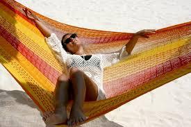 double hammocks ocean color relaxing hammock