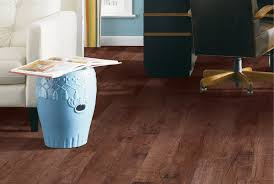 fancy white oak wood color vinyl kitchen floor with red wall paint