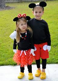 diy minnie mouse and mickey mouse costumes disney halloween