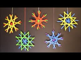 Christmas Decoration Crafts Straw Snowflakes Diy Winter Decor Crafts For Kids Youtube