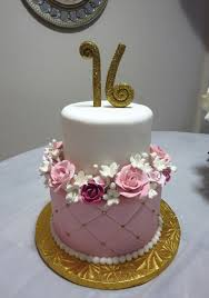 sweet 16 cakes rock pastries pink and gold floral sweet 16 cake