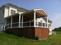 How To Build An Awning Frame Decks Com How To Build A Roof Over A Deck