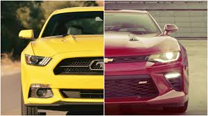 ford mustang chevy camaro 2016 chevy camaro vs 2016 ford mustang specs comparison release