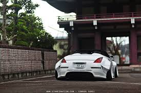 nissan 370z spoiler kit slammed nissan 370z stance star struck the star dast fairlady