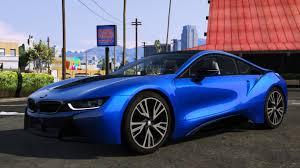 Bmw I8 Blue - 2015 bmw i8 add on gta5 mods com
