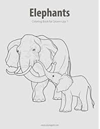 amazon elegant elephants coloring books featuring