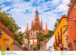 San Miguel De Allende Mexico Map by Aldama Street Parroquia Archangel Church San Miguel De Allende