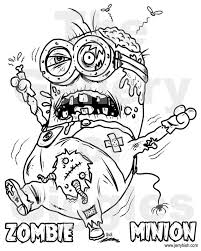 zombie minion printable colouring galleryofgiggles