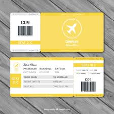 fantastic boarding pass template with gray details vector free