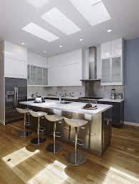 kitchen minimalist modern loft kitchen design in a large space