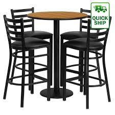 30 round bar table laminate table set 30 round bar height commercial table sets