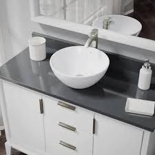 R2 Bathroom Furniture R2 5031 W R9 7006 White Porcelain Vessel Sink With Vessel Faucet