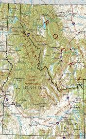 physical map of idaho map of idaho
