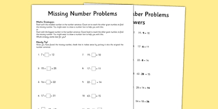 year 3 missing number problems activity sheet worksheet test