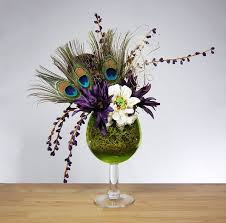 Peacock Feather Centerpieces by 60 Best Feather Floral Arrangements Images On Pinterest Marriage