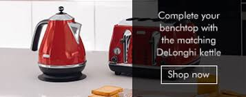 Delonghi Icona 4 Slice Toaster Black Delonghi Cto4003r Icona 4 Slice Red Toaster At The Good Guys