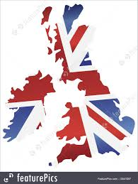 England Flag Colors Illustration Of Uk England Flag Map Silhouette